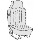 Kit housses de sièges noir 68-69 (basketweave #01)