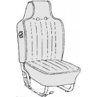 Kit housses de sièges gris clair 70-72 (basketweave #05)