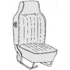 Kit housses de sièges noir 68-69 avec appuis tête incorporé (basketweave #01)