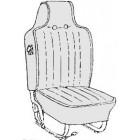 Kit housses de sièges noir 70-72 avec appuis tête incorporé (basketweave #01)