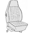 Kit housses de sièges noir 73 avec appuis tête incorporé (basketweave #01)