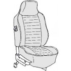 Kit housses de sièges noir 74-76 avec appuis tête incorporé (basketweave #01)