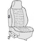 Kit housses de sièges gris clair 74-76 avec appuis tête incorporé (basketweave #05)