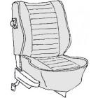 Kit housses de sièges gris clair 74-76 (basketweave #05)