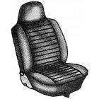 Paire de housses de sièges avant avec appui-tête