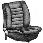 Paire de housses de sièges avant sans appui-tête