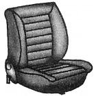 Paire de housses de sièges avant sans appui-tête pour cabriolet