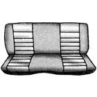 Housses de banquette arrière pour véhicule 2 portes