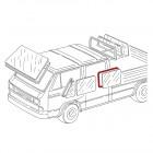 Joint de vitre latérale arrière gauche ou droite de pick-up T25 double cabine