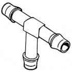 Raccord d'essence plastique en T diamètre 7 à 8mm
