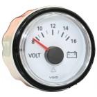 Voltmètre 8-16 volts fond blanc