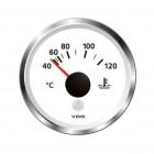 Cadran de température d'eau 40-120°C diam 52mm fond blanc VDO