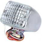 Mini feu à LEDS avec glace blanche avec 3 fonctions (position / freinage / clignotant)