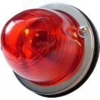 Feu arrière rond glace rouge prévu pour une ampoule double filament (non homologué)