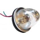 Feu arrière rond glace transparente prévu pour une ampoule simple filament (non homologué)