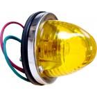 Feu arrière rond glace orange prévu pour une ampoule simple filament (non homologué)