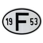 """Plaque """"F"""" millésime 1953"""