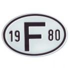 """Plaque """"F"""" millésime 1980"""