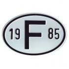 """Plaque """"F"""" millésime 1985"""