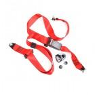 Ceinture sécurité arrière rouge manuelle (3 points d'attache)