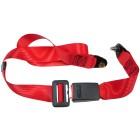 Ceinture sécurité arrière rouge manuelle (2 points d'attache)