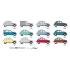 "Carte postale  ""2CV EVOLUTION 1948-1969"""