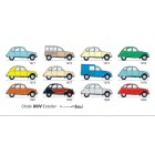 "Carte postale  ""2CV EVOLUTION 1971-1990"""