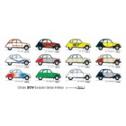 "Carte postale  ""2CV EVOLUTION SERIES LIMITEES"""