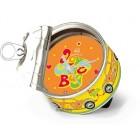 Horloge COX boite de conserve - FLOWER