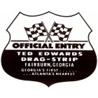 Autocollant TED EDWARDS DRAGSTRIP