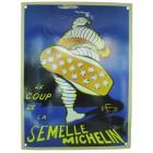Tôle émaillée bombée MICHELIN SEMELLE  (230x300mm)