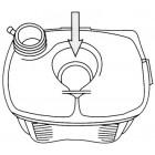 Vase d'expansion sans trou pour sonde sans bouchon pour Golf 1