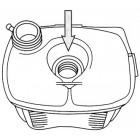 Vase d'expansion avec trou pour sonde sans bouchon pour Golf 1