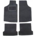 Kit de 4 tapis de sol noir pour Golf 1 berline