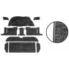 Kit moquette standard noire (8 pièces) pour Golf 1 Cabriolet