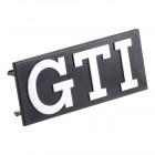 Logo GTI gris sur fond noir