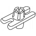 Clip pour fixation de baguette bas de caisse