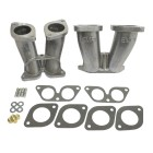 Set de 2 pipes d'admission pour monter carburateurs 40 IDF/HPMX sur moteur Porsche 356/912