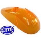Glace de clignotant d'aile orange 8/58-7/63 HELLA (avec marquage CE)