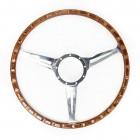 Volant Classic bois et aluminium ajouré diamètre 17 pouces