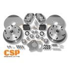 Kit frein à disques avant 5x205 CSP pour rotules 68-