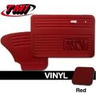 Set de 4 panneaux de porte rouge (red #17) avec vide poche 65-66 TMI