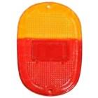 Vitre de feu arrière 8/62-67 EUROPE rouge/orange (sans cerclage chromé)
