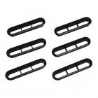 Set de 6 grilles d'aération de lunette arrière noires