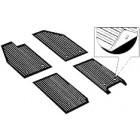 Set de 4 tapis caoutchoucs noirs 56-59