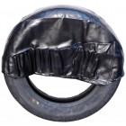 Housse de roue de secours en vinyl noir avec poches