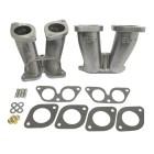 Set de 2 pipes d'admission pour monter carburateurs 40 IDF/HPMX sur moteur Porsche 356/912