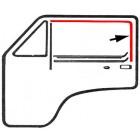 Guide vitre en feutrine sur porte avant gauche ou droite