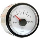 Pression d'huile 0-5 bars fond blanc