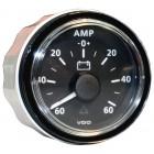 Ampèremètre -60/+60 amp fond noir